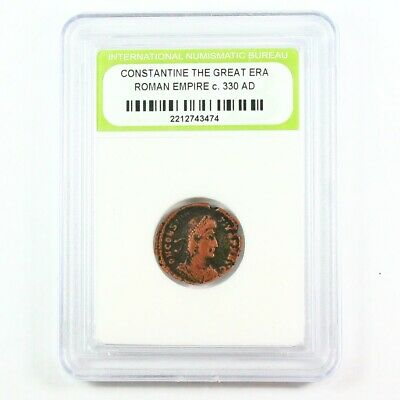 Slabbed Ancient Roman Constantine the Great Coin c. 330 AD Exact Coin Shown 2062