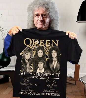 Queen Band 50th Anniversary Thank You For The Memories T-Shirt