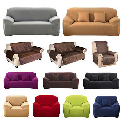 2/3/4Sitzer Universal Sofabezug Stretchhusse Couch Removable Slipcover Protector