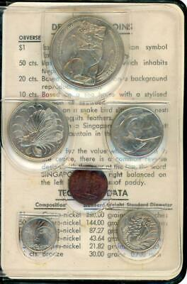 1969 Singapore Uncirculated Coin Set in Original Wallet