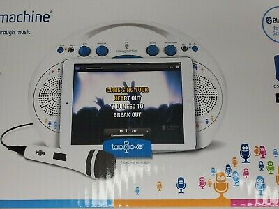 Singing Machine Tabeoke Portable Bluetooth Karaoke System Compatible Kids Home