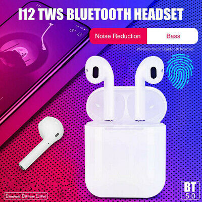 i12 TWS Bluetooth 5.0 Earphones Wireless Headphones Earbuds For iPhone Android