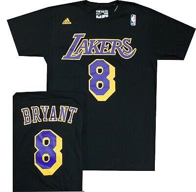 New Los Angeles Lakers Black Kobe Bryant #8 Adidas T Shirt  with tag