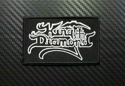 KING DIAMOND ROCK MUSIC HEAVY WOVEN METAL POP Embroidered Patch Iron On Sew Logo