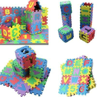 36X A-Z Baby Toddler Kids Alphabet Number Play Mat Foam Jigsaw Puzzle Toys Gifts
