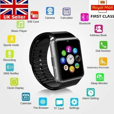 2020 Q18 GT08 Bluetooth Smart Watch For Android GSM GPRS SIM UK