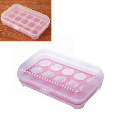 Single Layer 15-Grids Eggs Holder Stackable Duck Egg Storage Box Container ZHF
