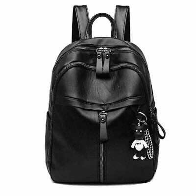 AU Women Soft Leather Shoulder Bags Ladies Backpack Handbag Messenger Tote Black