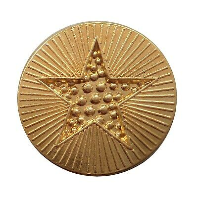 Gold Star Award Round Pin Badge For Schools