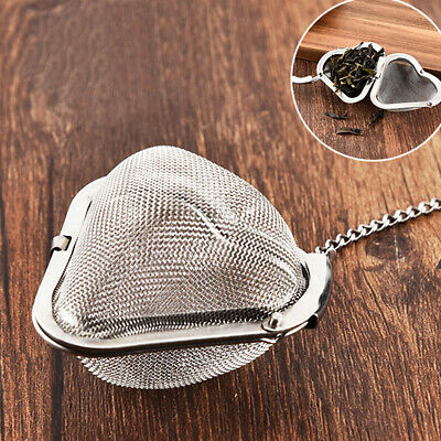 Stainless Steel Infuser Home Reusable Heart-Shaped Mesh Diffuser Tea Strainer