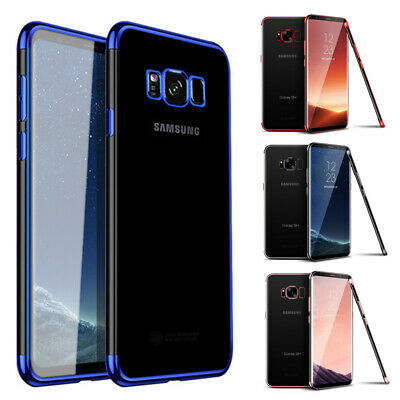 Shockproof Plating TPU Clear Case Cover For Samsung Galaxy Note 10 S10 A20e A40