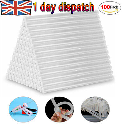 UK Hot Melt Glue Sticks 100 x 7MM for DIY Trigger Electric Mini Gule Gun Hobby