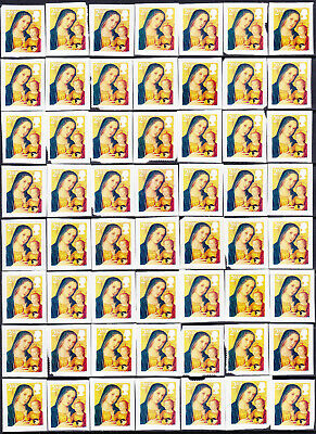 GB  100 x 2nd  Class Unfranked Xmas  Stamps On Paper