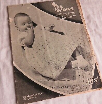 Vintage PATONS Baby KNITTING PATTERNS Book 212