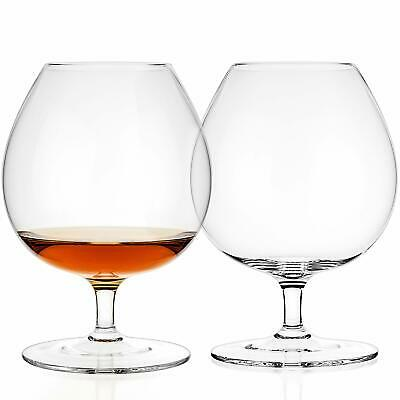 Luxbe Crystal Glasses Snifter Ideal For Brandy Or Cognac Large Handcrafted