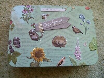 Heathcote & Ivory Gardeners Hedgerow SOS Tin, Hand Cream, Balm & Muscle Soak NEW
