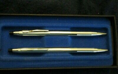 stainless steel Cross pen and pencil set