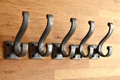 Five Lovely Classic Antique Style Cast Iron Double Coat Hook Coathook Hanger R16