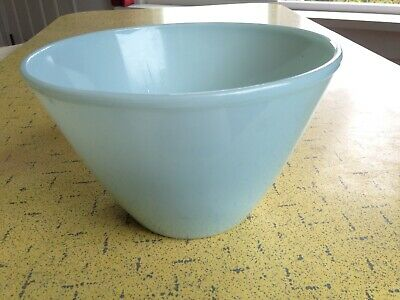 "FIRE KING Turquoise Blue 1950s Splash Proof Mixing Bowl 2.5Qt 8.5"" Oven Ware EUC"