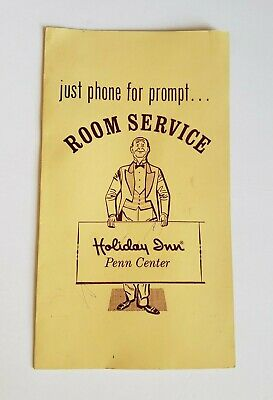 Vintage Room Service Menu Holiday Inn Penn Center Pennsylvania