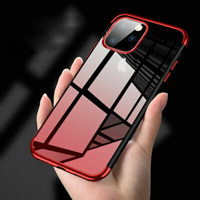 For iPhone 11 Pro Max 11 Luxury Slim Gradation Plating Clear Soft TPU Case Cover