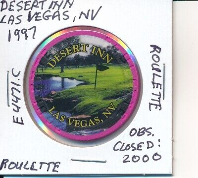 Casino Chip - Desert Inn Las Vegas Nv 1997 Roulette #E4471.C Obs Closed 2000