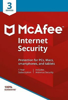McAfee Internet Security 2020 3 Multi Devices 1 Year Fast Delivery by Email EU