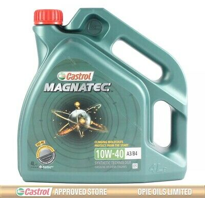 Castrol Magnatec 10W-40 Part-Synthetic Engine Oil ACEA A3/B4 10W40 - 4 LITRES 4L