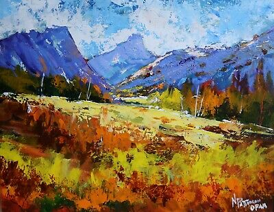 "Neil Patterson OPAM -""White Clouds"" - Original Oil Painting by Canadian Artist"