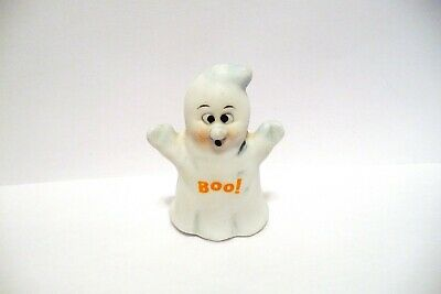 "Thimble Bisque Enesco '88 ""Boo!"" A Figural Of A Ghost"