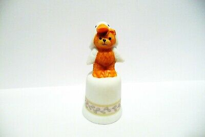 Thimble Bisque Enesco Lucy Rigg '87 Topper Of A Duck  Bear