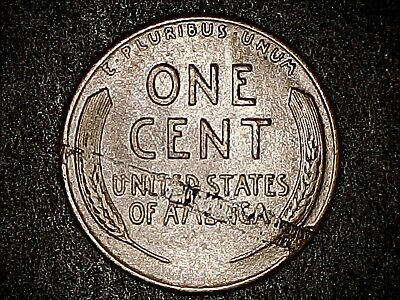 1944 Lincoln Wheat Cent Nice Older Mint Error Reverse Laminations