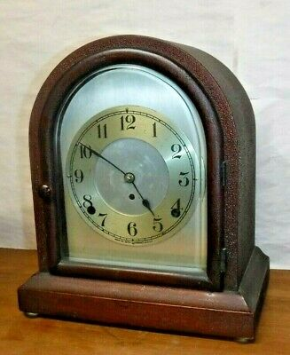 "Antique Seth Thomas 8 Day Chime Key-Wind Mahogany ""Dundee"" Bracket Clock Working"