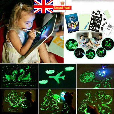 Draw With Light Fun Kids Developing Toy Drawing Board Magic Painting Educational
