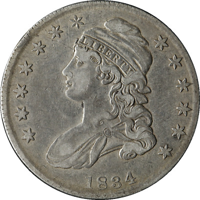 1834 Bust Half Dollar Small Date Small Letters Choice VF/XF 0-112 R.3