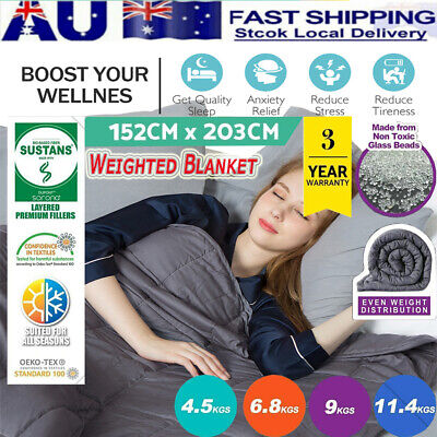 4.5/7/9/11KG Weighted Blanket Heavy Gravity Deep Cotton Relax Sleeping Bedding