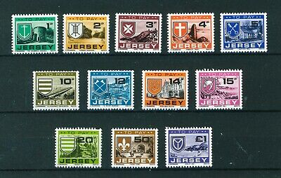 GB Jersey 1978 Postage Due's full set of stamps. Mint. Sg D21-D32.