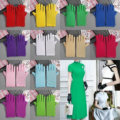 Women's Matte Short Gloves Opera Wedding Bridal Evening Party Costume Gloves Hot