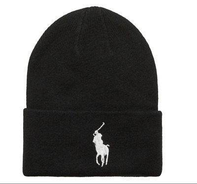 Adults One Size Ralph Lauren Polo beanie hats (black & red white )70%off!!