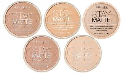 Rimmel Stay Matte Long Lasting Pressed Powder 14g *Various Shades Choose Yours*