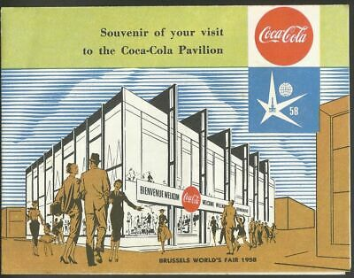 Pavillon Coca Cola ancien dépliant Expo 58 - World fair