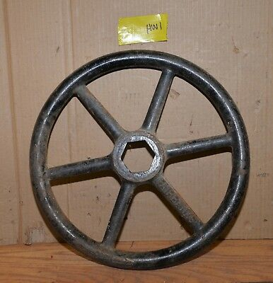 "Fairbanks valve hand wheel industrial 16"" diameter collectible steam punk HW1"