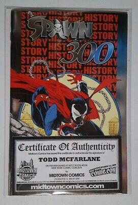 Spawn #300 Silver Foil Variant Signed By Todd Mcfarlane With Coa Nycc