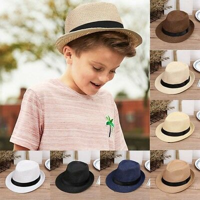 Baby Kids Boy Girls Hat Cap Children Breathable Hat  Summer Straw Sun Hat AU