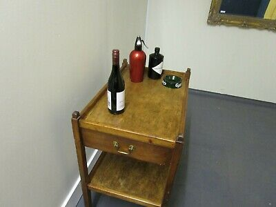 Vintage Arts and Crafts Style Oak Drinks/Food Trolley
