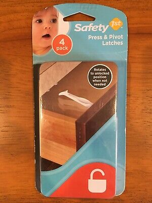 Safety 1ST Press and Pivot Latches Package of 4  #48446   NEW
