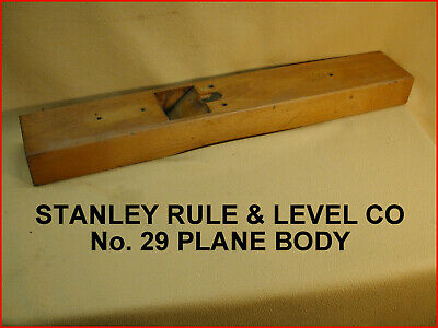 STANLEY RULE & LEVEL CO.-->TRANSITION PLANE No.29 -WOODEN BODY/SOLE--NICE ONE!