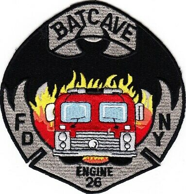 NEW  YORK  -  NEW YORK CITY  FIRE DEPARTMENT   ENGINE  26   BATCAVE    Patch