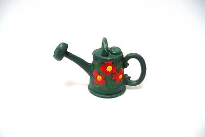 Thimble Guild Green Handpainted Sheffield Pewter W/Red Flowers