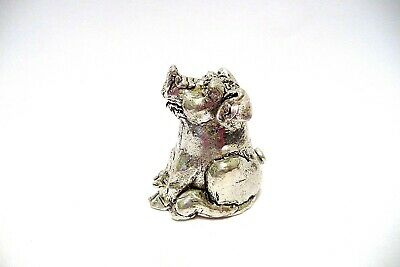 Thimble Pewter Comstock Figural Of A Pig